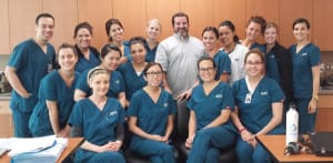 Mike Perry and Dental Hygiene Class